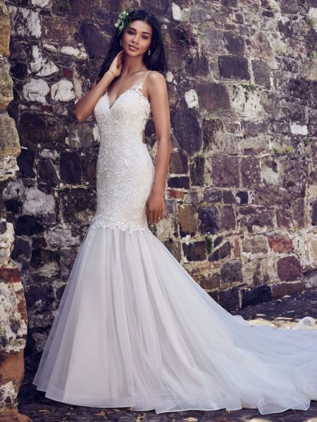 Trendy Fit And Flare Wedding Dress by Maggie Sottero - Image 1