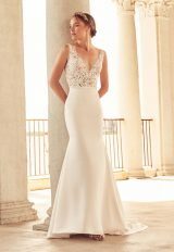 Romantic Mermaid Wedding Dress by Paloma Blanca - Image 1