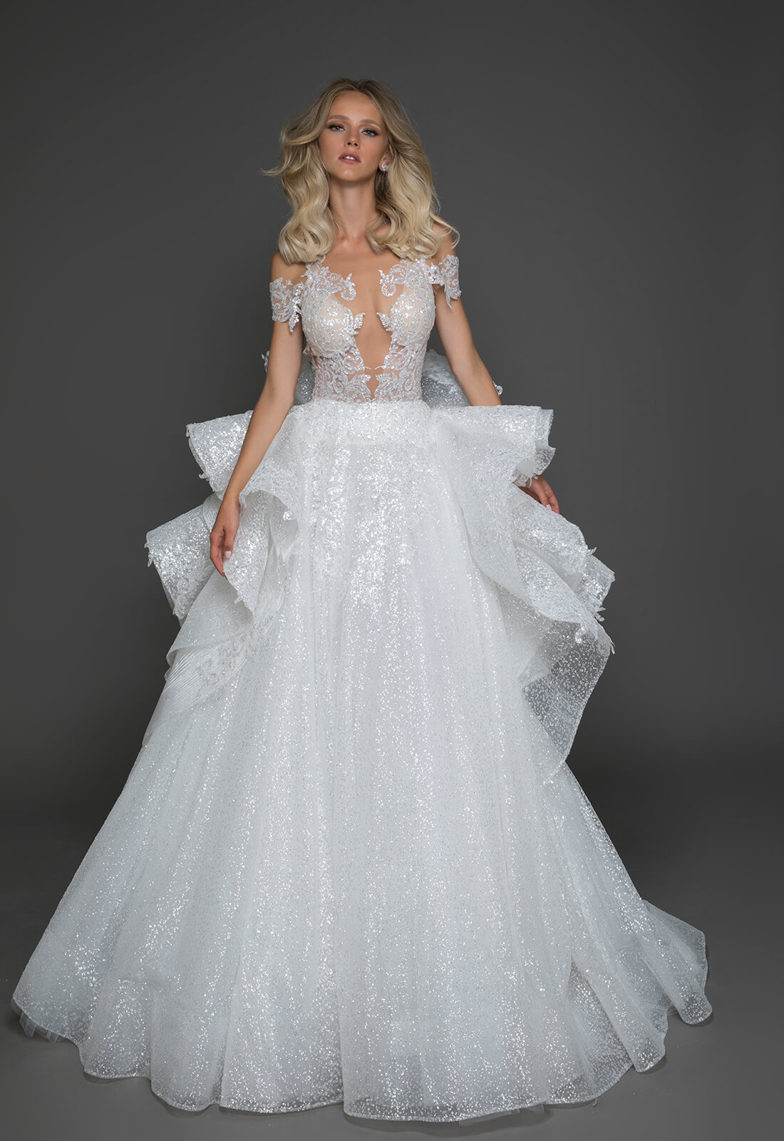 Sexy ball gown wedding dress kleinfeld bridal sexy ball gown wedding dress by pnina tornai image 1 zoomed in junglespirit Choice Image