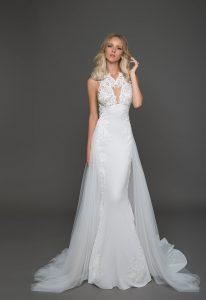 Trendy Sheath Wedding Dress by Pnina Tornai