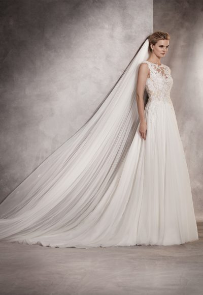 Couture Sheath Wedding Dress by Pronovias