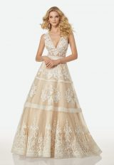 Bohemian A-line Wedding Dress by Randy Fenoli - Image 1