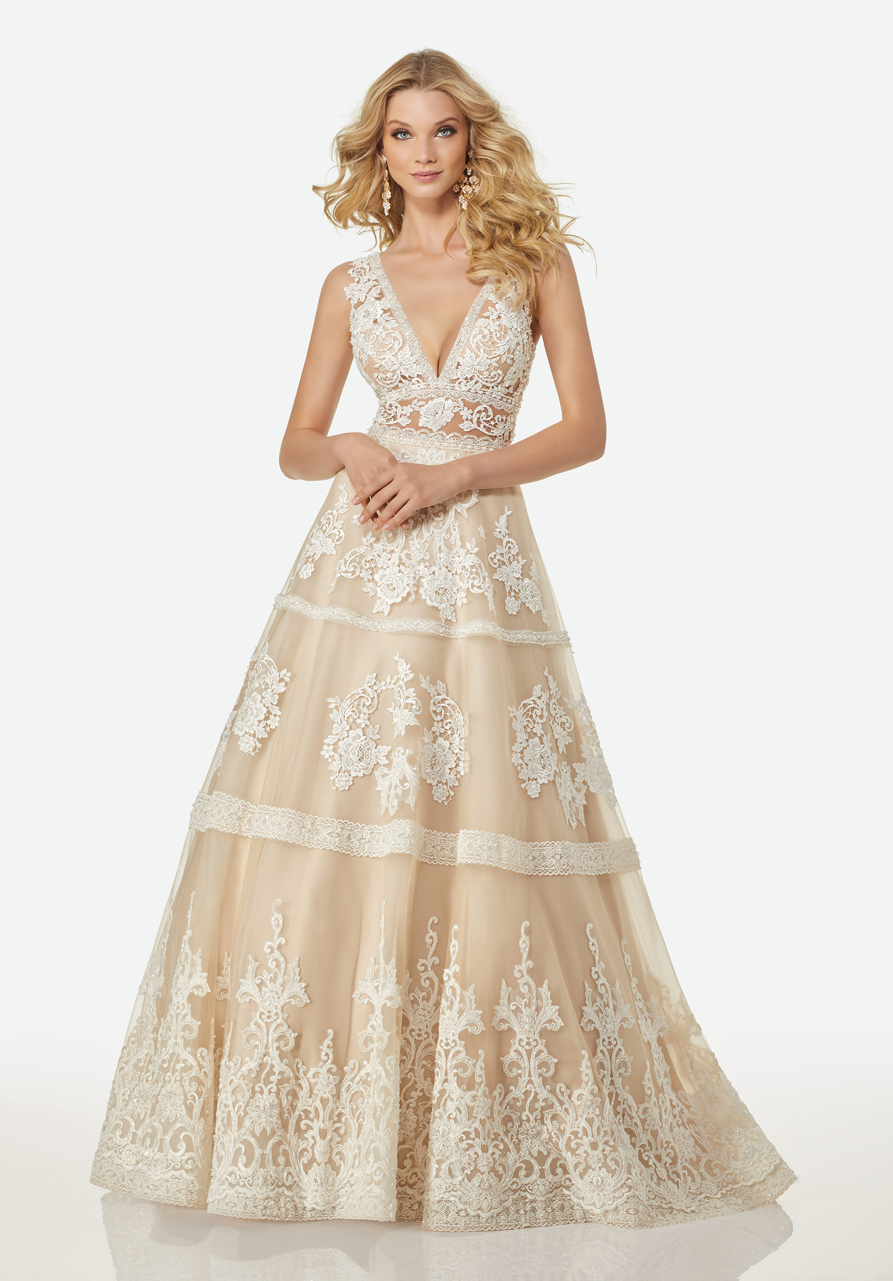 Style Luannexs · Bohemian Aline Wedding Dress By Randy Fenoli: Natural Colored Wedding Dress At Websimilar.org