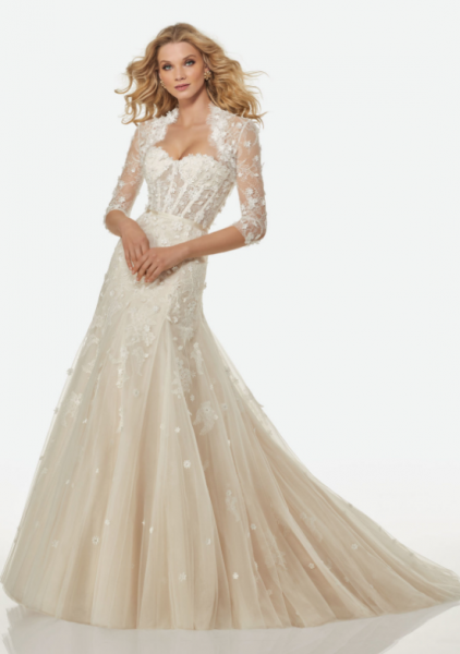 Romantic Fit And Flare Wedding Dress by Randy Fenoli - Image 1