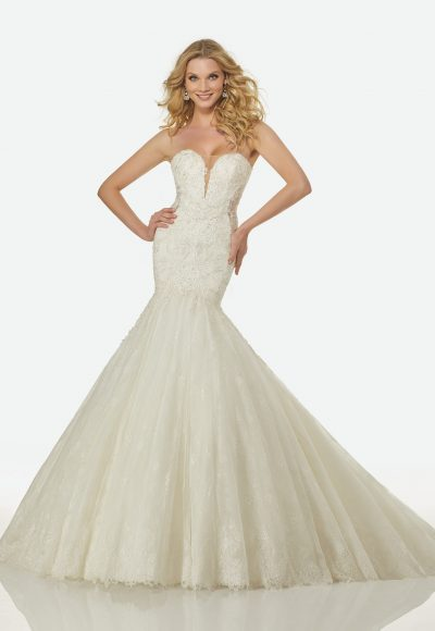 Romantic Mermaid Wedding Dress by Randy Fenoli