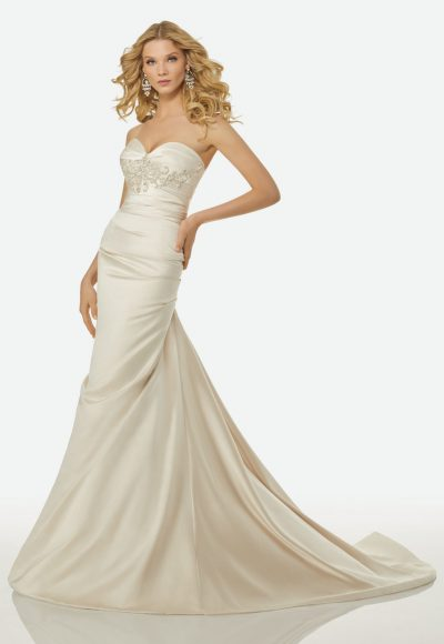 Simple Mermaid Wedding Dress by Randy Fenoli