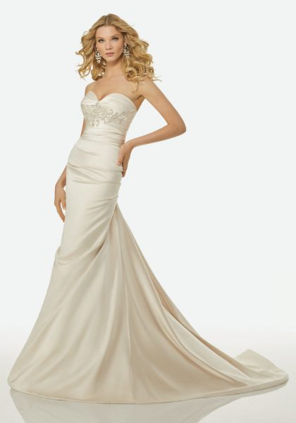 Simple Mermaid Wedding Dress by Randy Fenoli - Image 1
