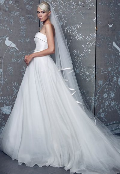 Simple Ball Gown Wedding Dress by LEGENDS Romona Keveza