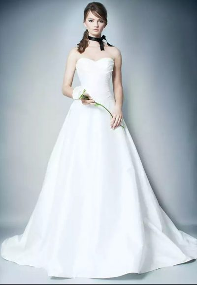 Simple Ball Gown Wedding Dress by Romona Keveza