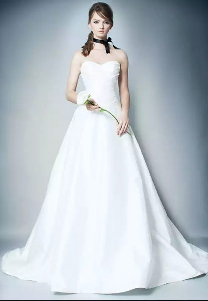 Simple Ball Gown Wedding Dress by ROMONA New York - Image 1