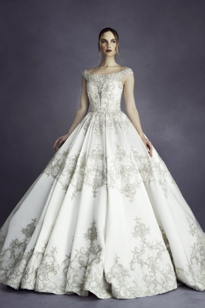 Natural Waist Beaded Ball gown by Stephen Yearick - Image 1