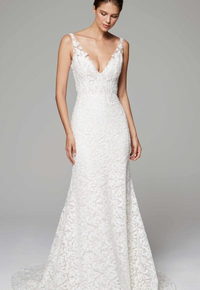 Romantic Fit And Flare Wedding Dress by Anne Barge