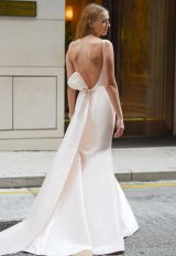 Open Back Boatneck Sleeveless Wedding Dress by Augusta Jones - Image 2