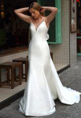 V-neck Sleeveless Open Back Mermaid Wedding Dress by Augusta Jones - Image 1