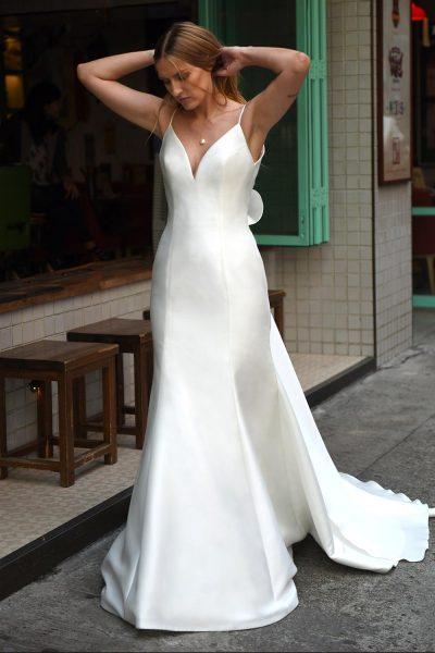 V neck sleeveless open back mermaid wedding dress kleinfeld bridal v neck sleeveless open back mermaid wedding dress by augusta jones image 1 junglespirit Image collections