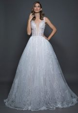 Sleeveless Beaded And Embelished Ballgown Wedding Dress by Love by Pnina Tornai - Image 1