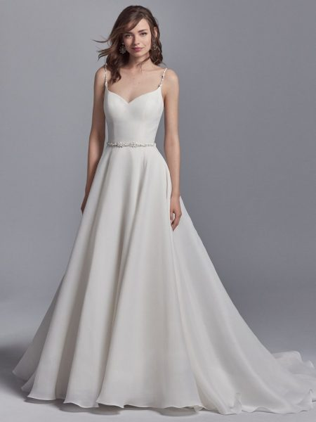 c7626a1991a Elegant Sweetheart Organza Sleeveless A-line Wedding Dress by Maggie  Sottero - Image 1