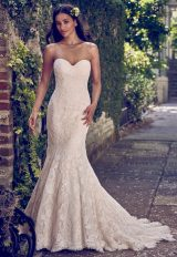 Full Lace Strapless Sweetheart Fit And Flare Wedding Dress by Maggie Sottero - Image 1