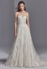 Strapless Sweetheart Neck A-line Natural Waist Wedding Dress by Sottero and Midgley - Image 1