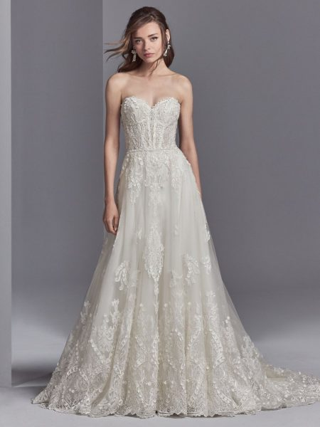 Strapless Sweetheart Neck A Line Natural Waist Wedding Dress By Sottero And Midgley Image