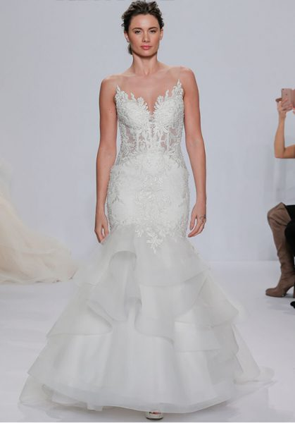 Lace applique illusion mermaid wedding dress kleinfeld bridal lace applique illusion mermaid wedding dress by randy fenoli image 1 junglespirit Images