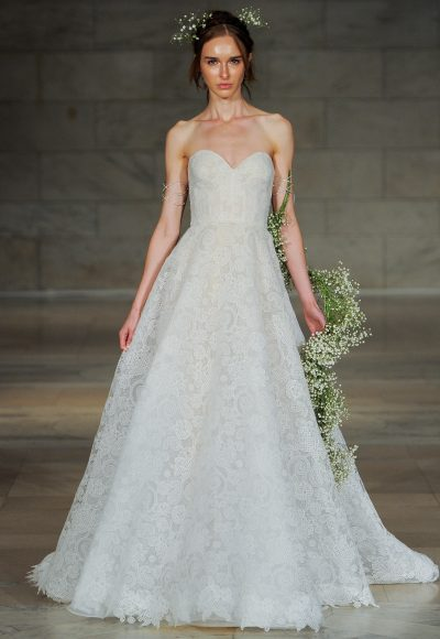 Romantic A-line Wedding Dress by Reem Acra