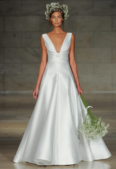 Simple A-line Wedding Dress by Reem Acra