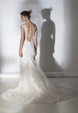 Romantic Lace V-neck Sheath Wedding Dress by Rivini - Image 2