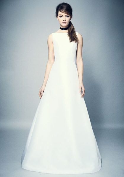 Simple Bateau Neck A Line Wedding Dress Kleinfeld Bridal