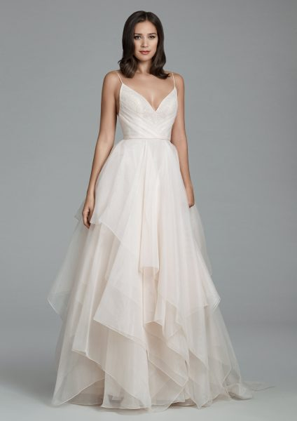 Romantic Ball Gown Wedding Dress by Tara Keely - Image 1