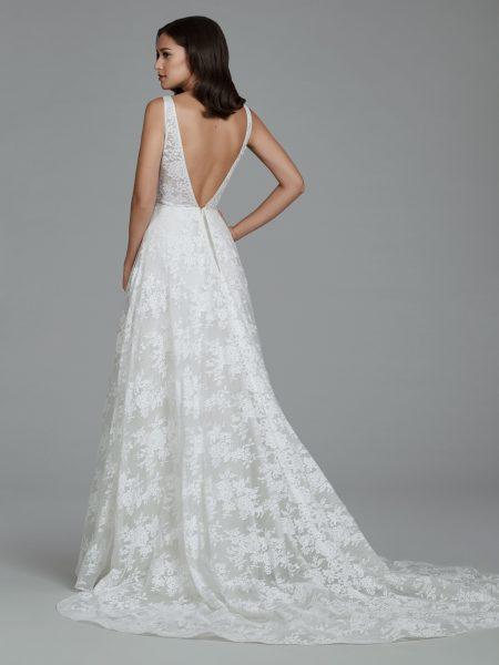 Romantic Lace V-neck A-line Dress by Tara Keely - Image 2