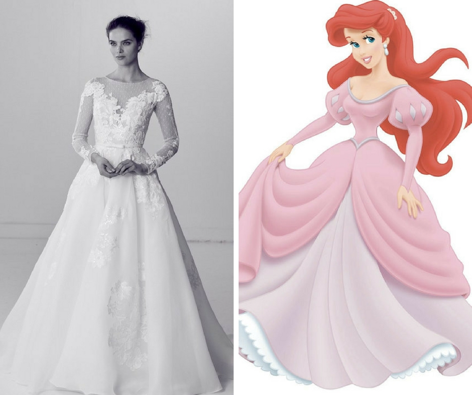 How to Dress Like a Disney Princess on Your Wedding Day | Kleinfeld ...