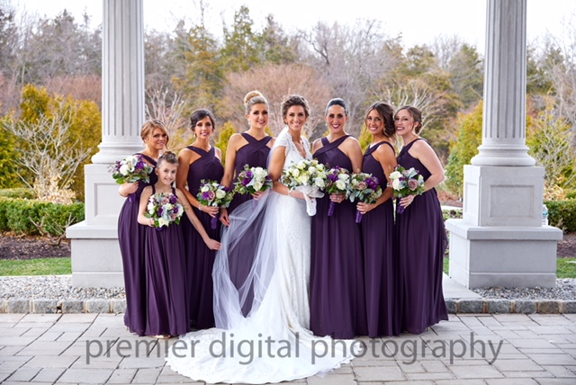 Alexandra and Gerard Tingos' wedding bride's maids