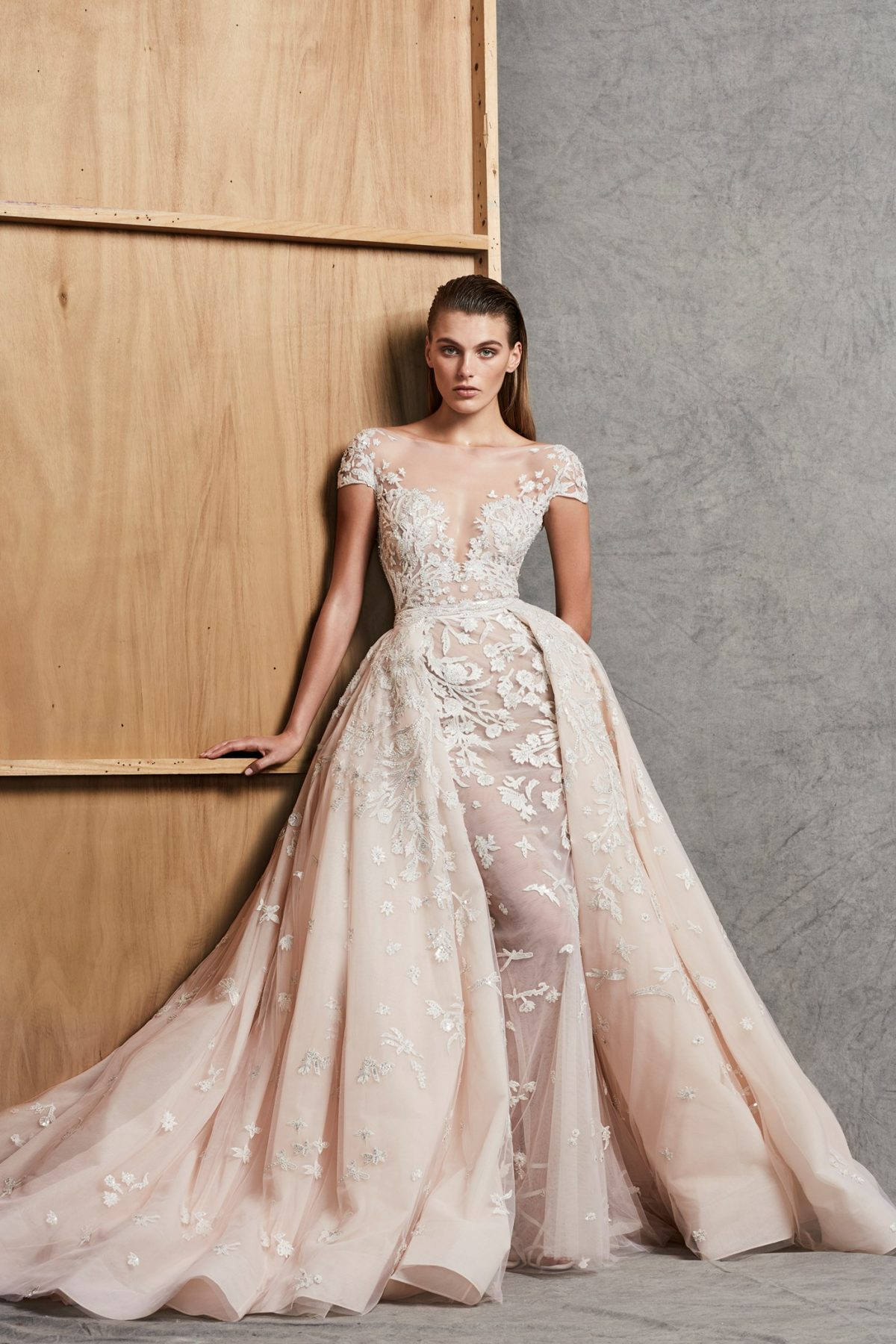 Sweetheart Neck Off-the-Shoulder Ball Gown With Detachable Skirt ...