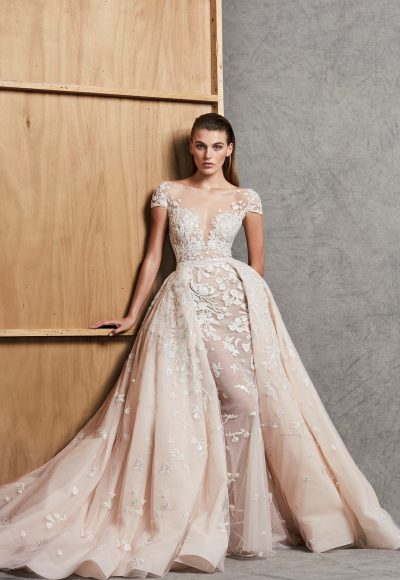 Sweetheart Neck Off-the-Shoulder Ball Gown With Detachable Skirt Wedding Dress by Zuhair Murad