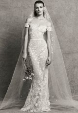 Sweetheart Neck Off-the-Shoulder Sheath Embroidered Wedding Dress by Zuhair Murad - Image 1