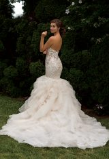 Beaded Bodice Sweetheart Neck Fit And Flare Wedding Dress by Eve of Milady - Image 2