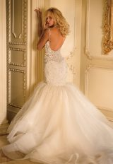 Beaded Bodice Sweetheart Neck Full Skirt Fit And Flare Wedding Dress by Eve of Milady - Image 2