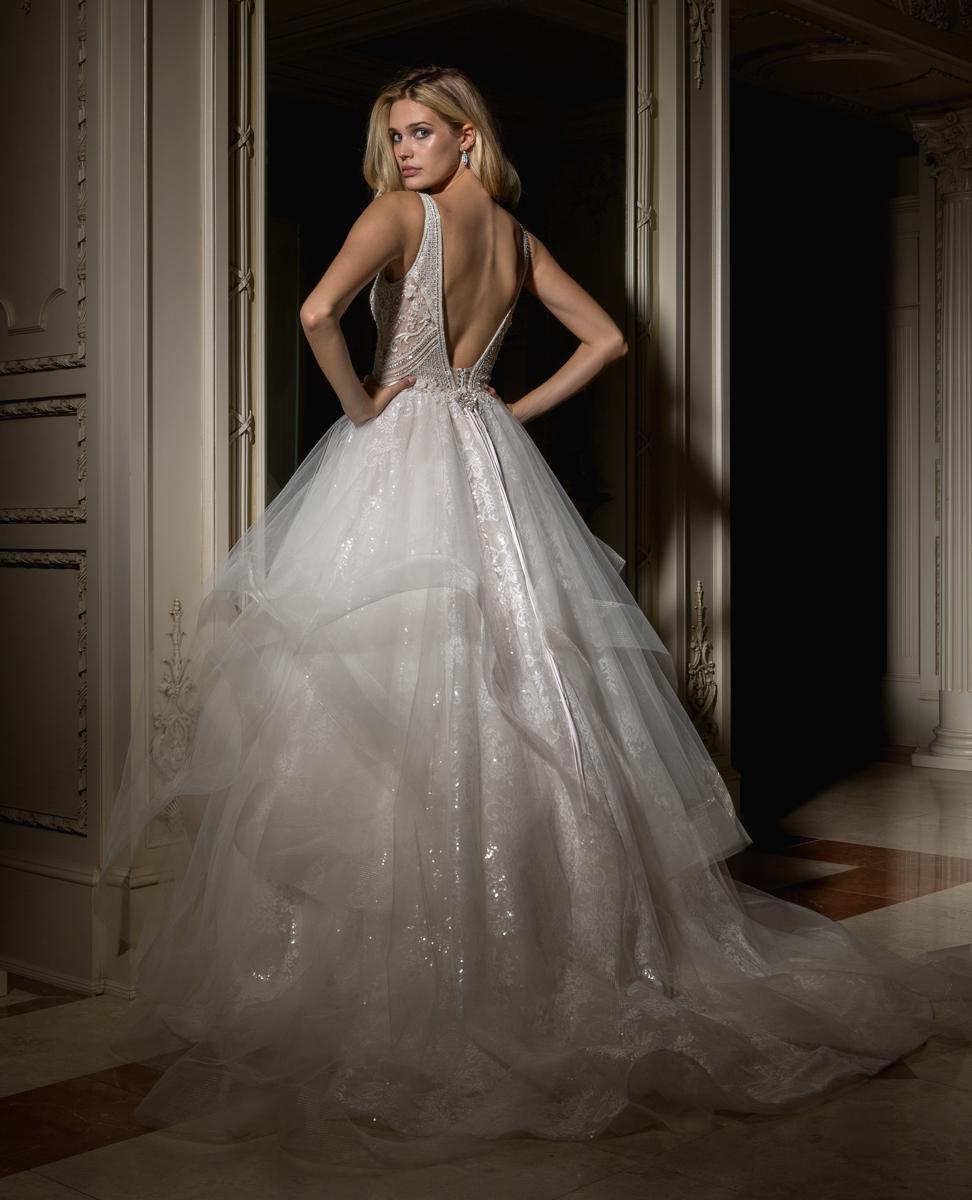 Beaded V-neck Bodice With Ball Gown Skirt Wedding Dress | Kleinfeld ...