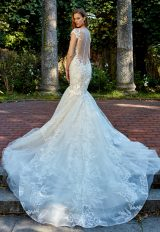 Off The Shoulder Sweetheart Neck Beaded Lace Applique Mermaid Wedding Dress by Eve of Milady - Image 2