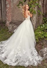Sweetheart Neck Beaded Lace Bodice Strapless Wedding Dress by Eve of Milady - Image 2