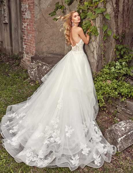 Sweetheart Neck Beaded Lace Bodice Strapless Wedding Dress ...