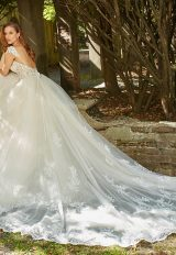 Sweetheart Neck Illusion Bodice With Beaded Lace And Full Skirt Wedding Dress by Eve of Milady - Image 2