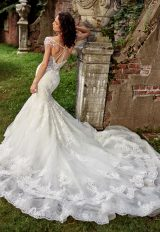 Sweetheart Neck With Embellished Spaghetti Straps And Beaded Lace Wedding Dress by Eve of Milady - Image 2