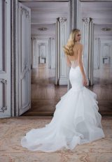 Deep V-neck Lace Bodice Tulle Skirt Mermaid Wedding Dress by Love by Pnina Tornai - Image 2
