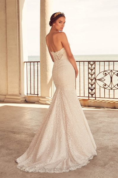 Sweetheart Neckline Beaded Lace Fit And Flare Wedding Dress by Paloma Blanca - Image 2