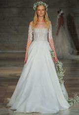 Off-the-shoulder Silk Organza Corset A-line Wedding Dress by Reem Acra - Image 1