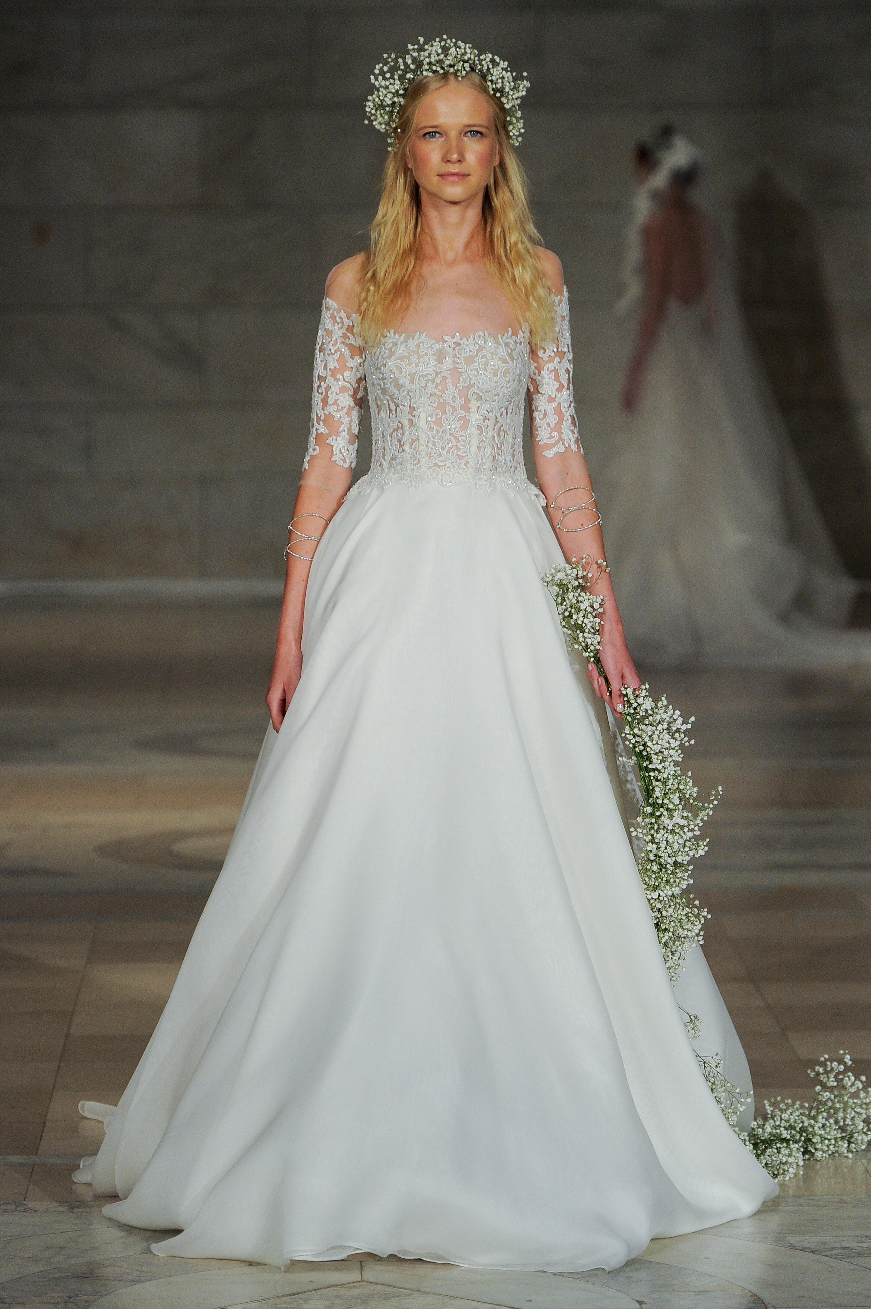 6512fdb8887d Off-the-shoulder Silk Organza Corset A-line Wedding Dress | Kleinfeld Bridal