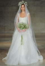 Sleeveless Scoop Neck Embellished Ball Gown Wedding Dress by Reem Acra - Image 1