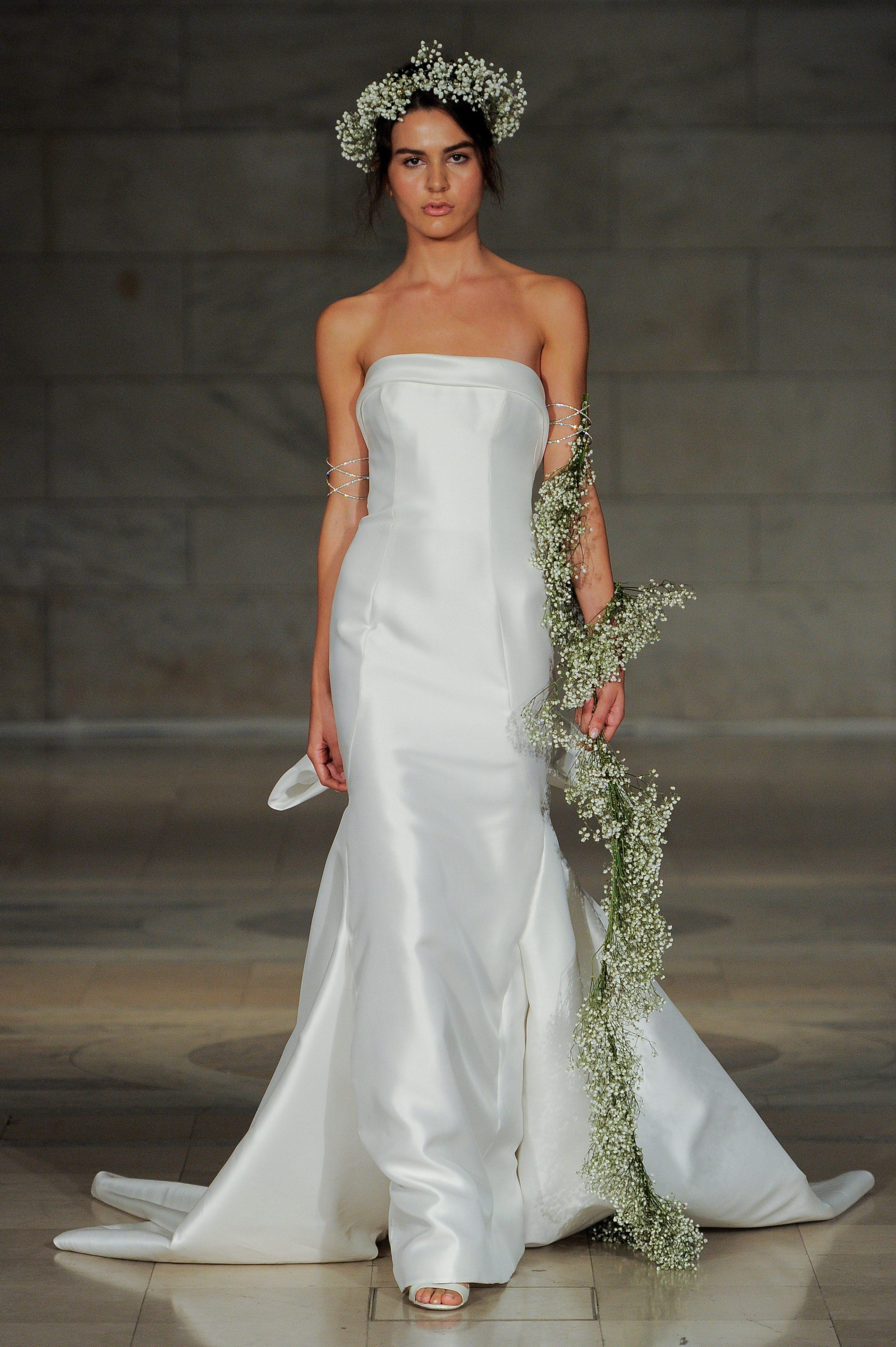 Strapless Simple Straight Neckline Mermaid Wedding Dress | Kleinfeld ...